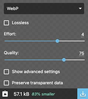 使用Webp类型切压缩的效果